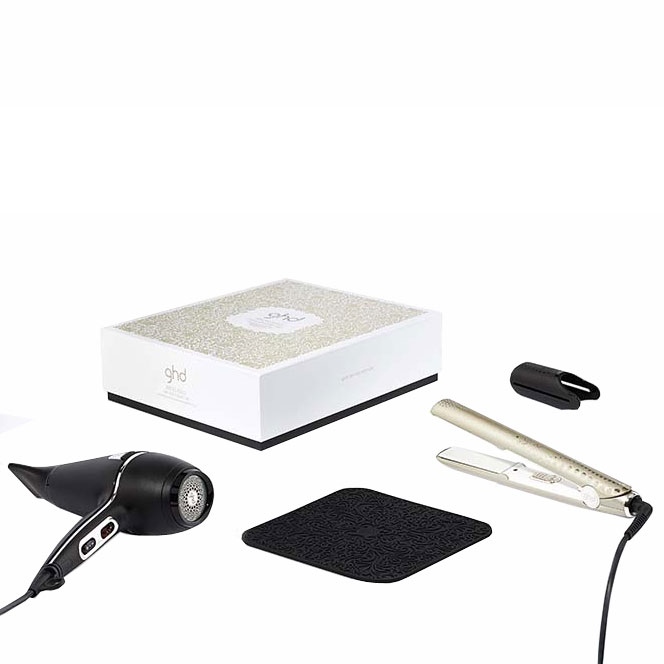 ghd ghd arctic gold deluxe set includes free ghd product buy cheaper than salon price free. Black Bedroom Furniture Sets. Home Design Ideas