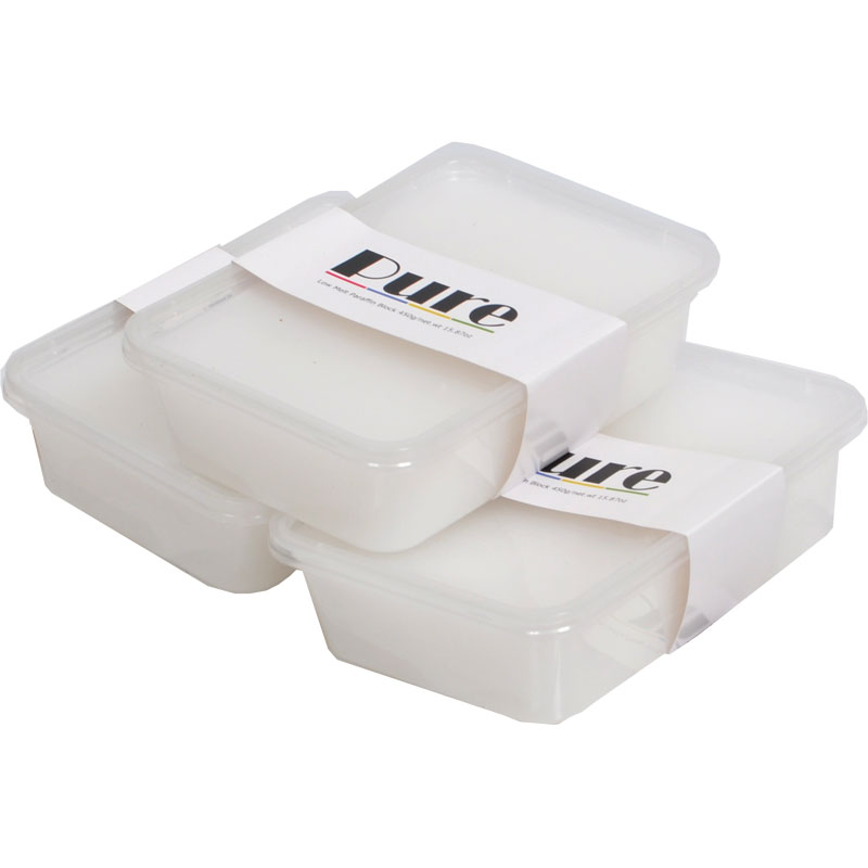 pure salon equipment  : White Paraffin Wax 3 Pack
