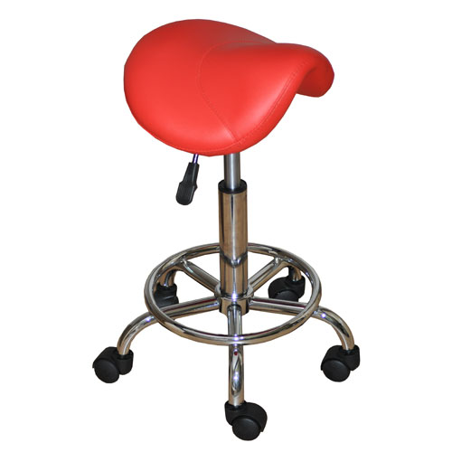 Pure Salon Equipment Saddle Stool (Red). Buy Cheaper Than